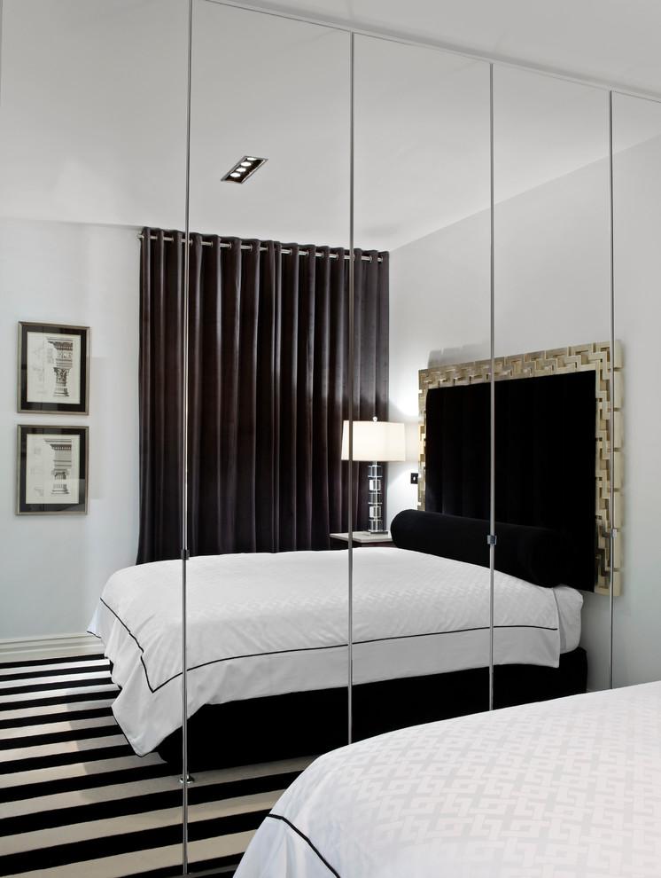 Bedroom - contemporary bedroom idea in Melbourne