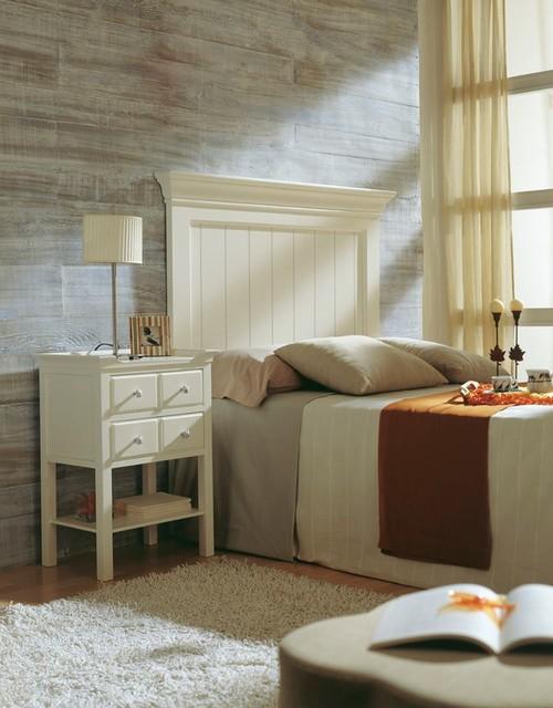 Cabezal para cama de 90 105 cm y mesita de 2 cajones con for Camas de 105 con cajones