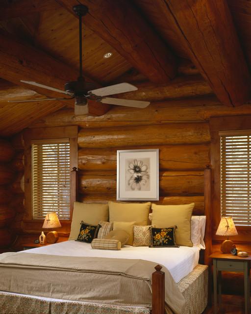 Caddis Fly Cabin Interior rustic-bedroom