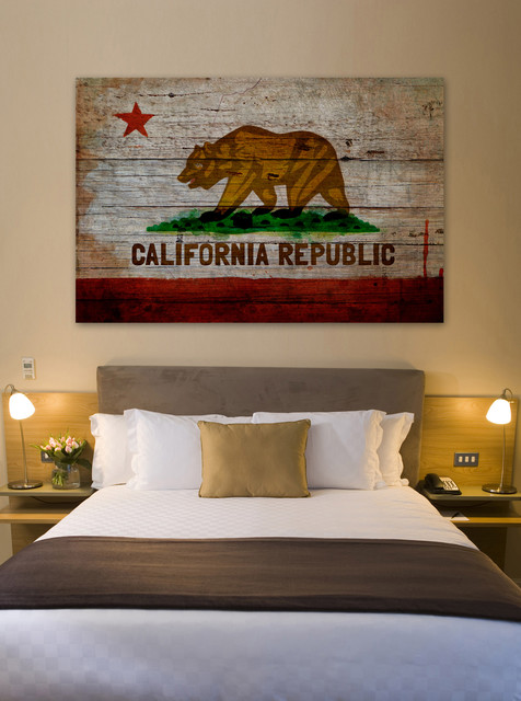 California Republic Fine Art Contemporary Bedroom