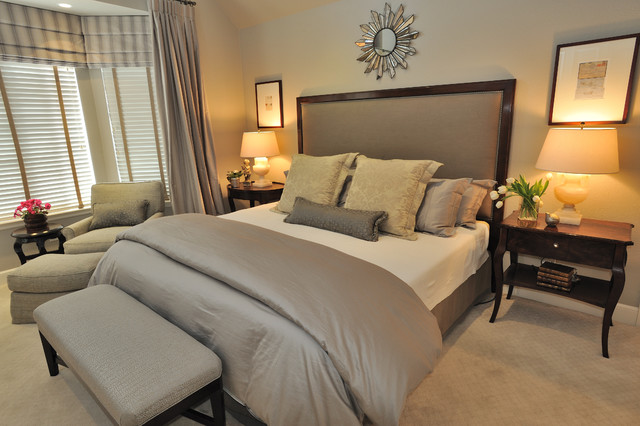 Calming Master Bedroom Contemporary Bedroom San