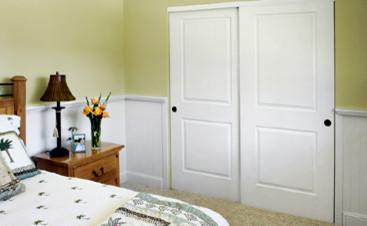 Cambridge Bypass Closet Doors traditional-bedroom