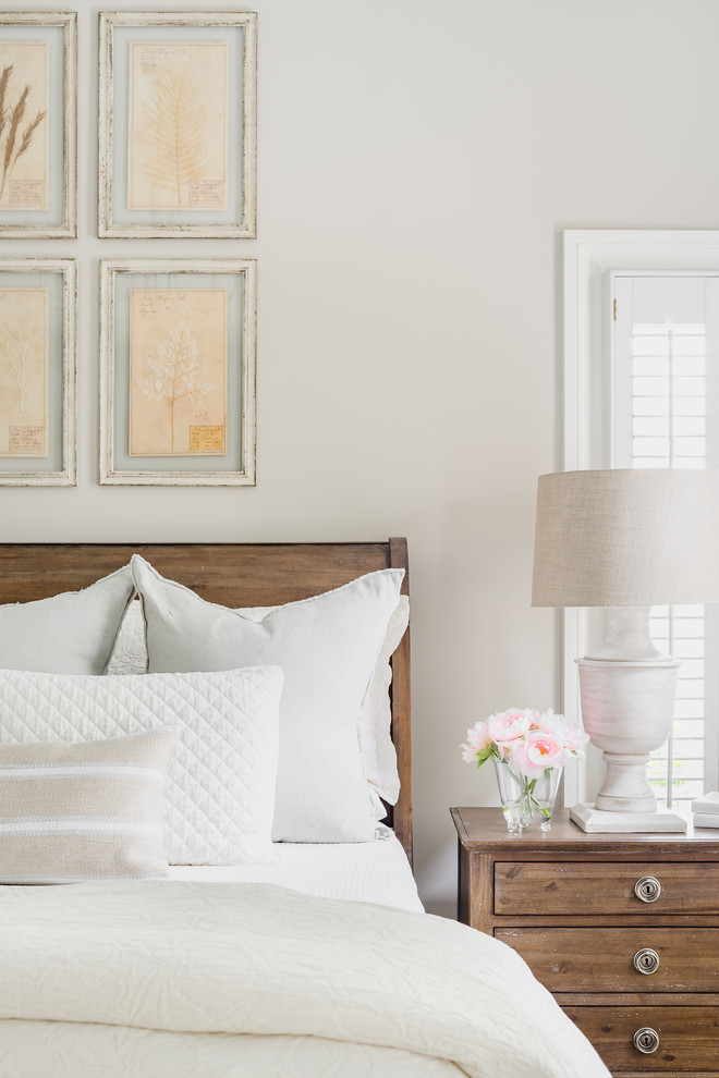 Example of a bedroom design in Charlotte