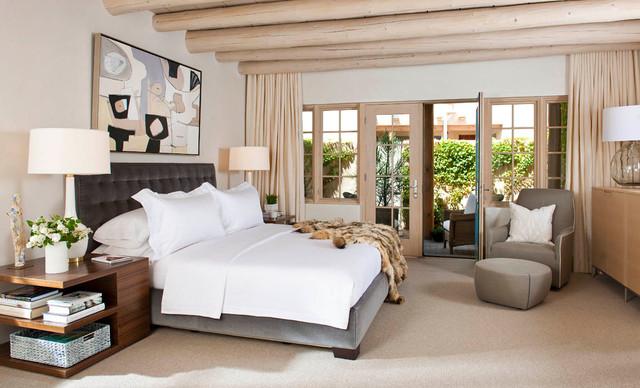Camino Santander, Santa Fe Residence southwestern-bedroom