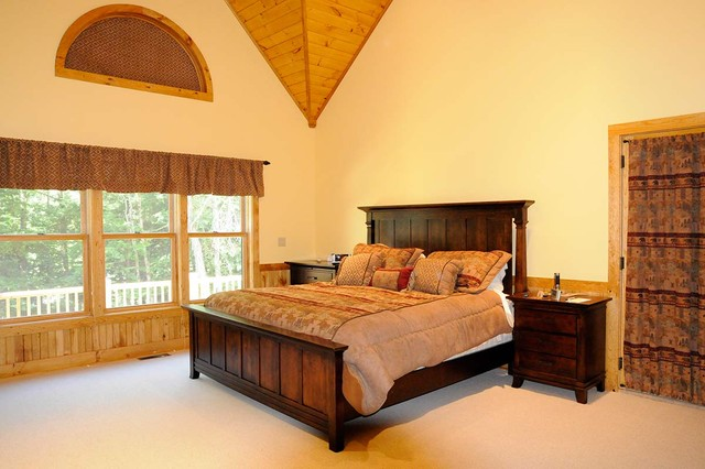 Camp Stone traditional-bedroom