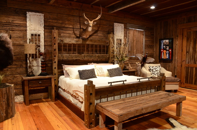 Camphouse Remodel Rustic Bedroom Birmingham By