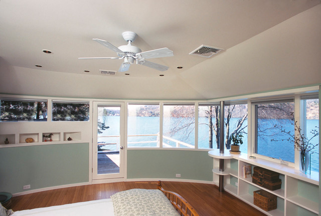 Candlewood Lake, CT contemporary-bedroom