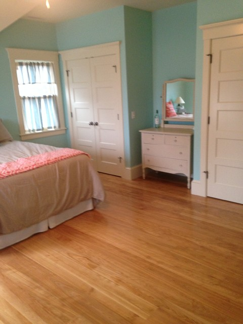Cape Cod Birch Floors Stairs Traditional Bedroom