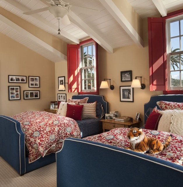Cape cod beach style bedroom san diego by smith brothers - Cape cod style bedroom image ...
