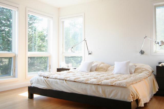 Cape House - master bedroom modern-bedroom