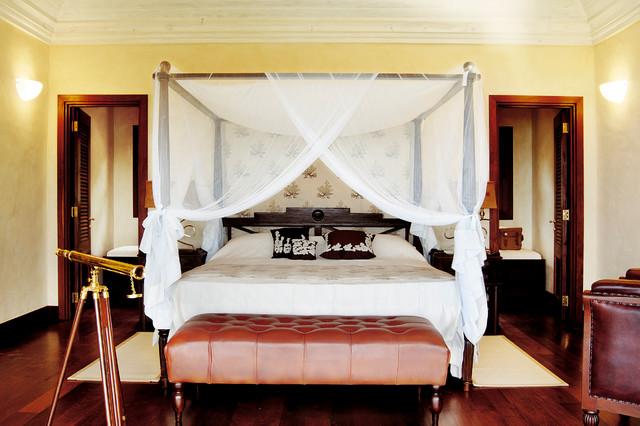 Caribbean Island tropical-bedroom