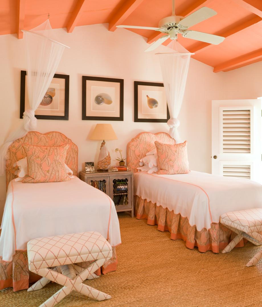 Aqua And Coral Bedroom Houzz