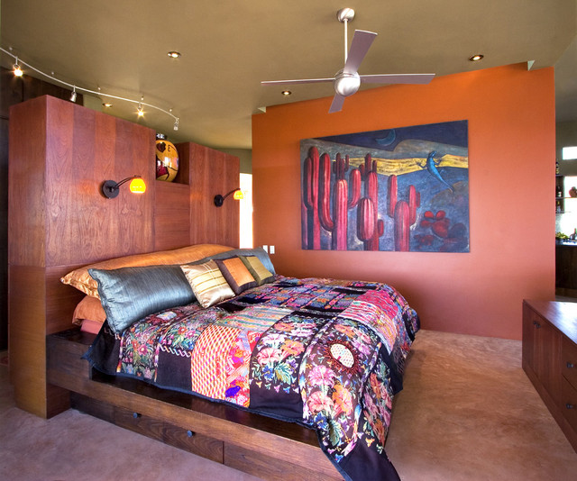 tropical bedroom by House + House Architects
