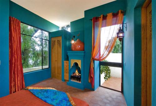 Casa Lluvia Blanca mediterranean bedroom