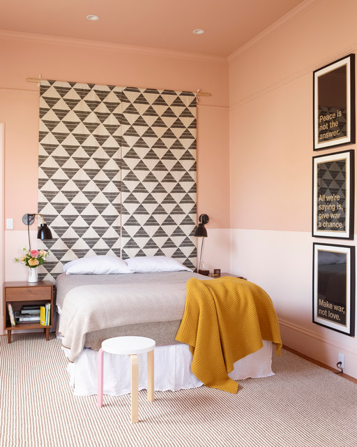 Eclectic Bedroom by The Office of Charles de LisleWhy You Should Paint Your Walls More Than One Color. Painting A Bedroom Two Different Colors. Home Design Ideas