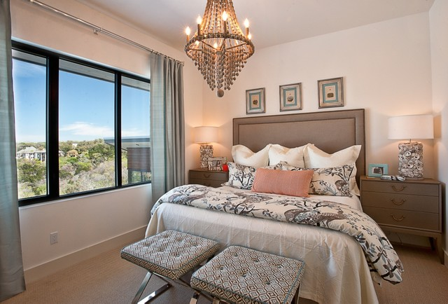 Cat Mountain, Greenbelt Homes, Austin TX transitional-bedroom
