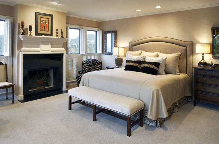 Bedroom - traditional bedroom idea in Dallas
