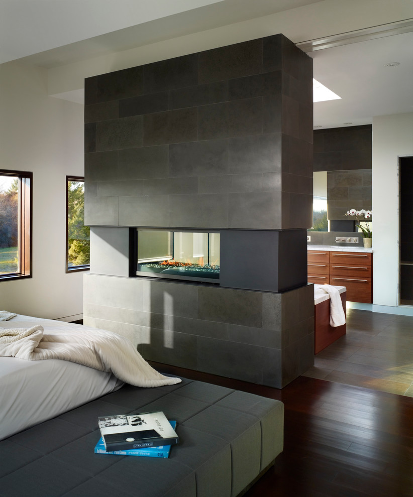 Bedroom With A Two Sided Fireplace