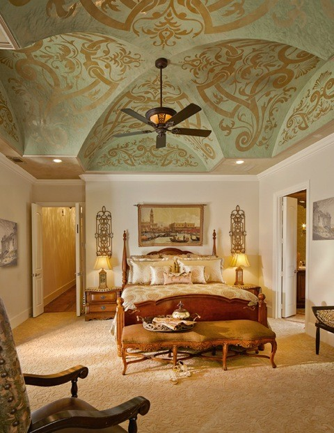 Ceilings And Entry Halls Mediterranean Bedroom Other