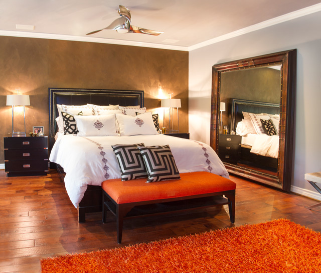 Celebrity home master bedroom eclectic bedroom other for Eclectic master bedroom ideas