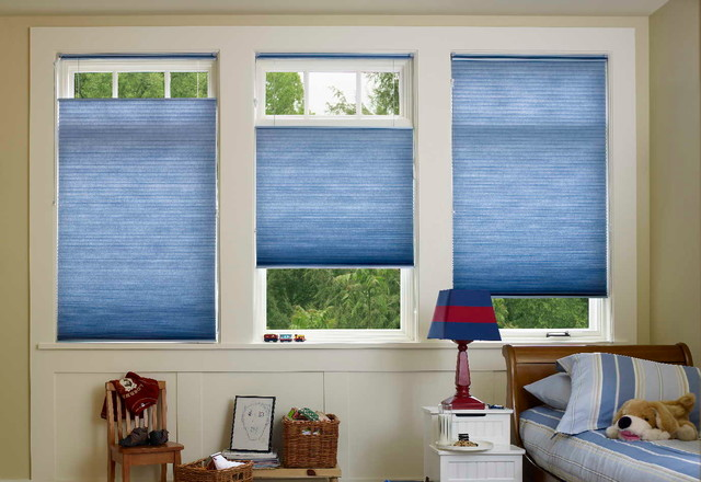 cellular shades for the kids room traditional bedroom