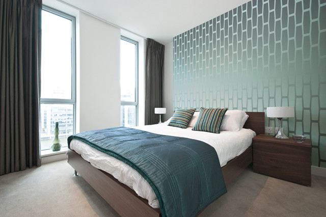 Cellular Wallpaper Modern Bedroom