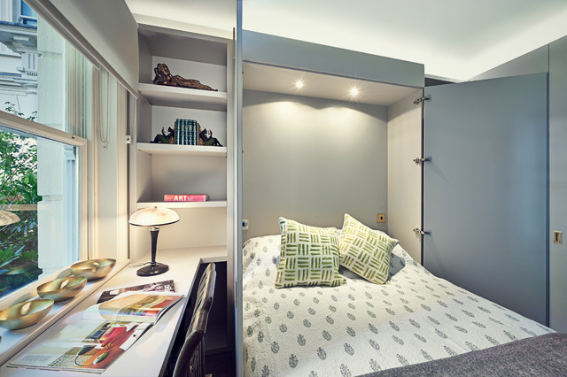 Central London Apartment transitional-bedroom