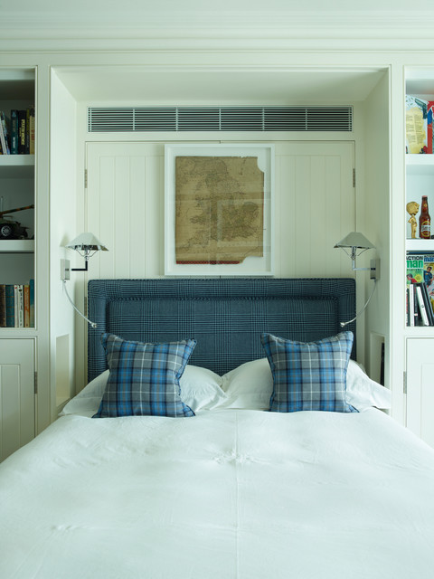 Central london town house traditional bedroom london for Interior designers central london