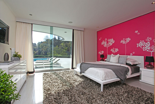 modern bedroom Color of the Month: Decorating with Pink