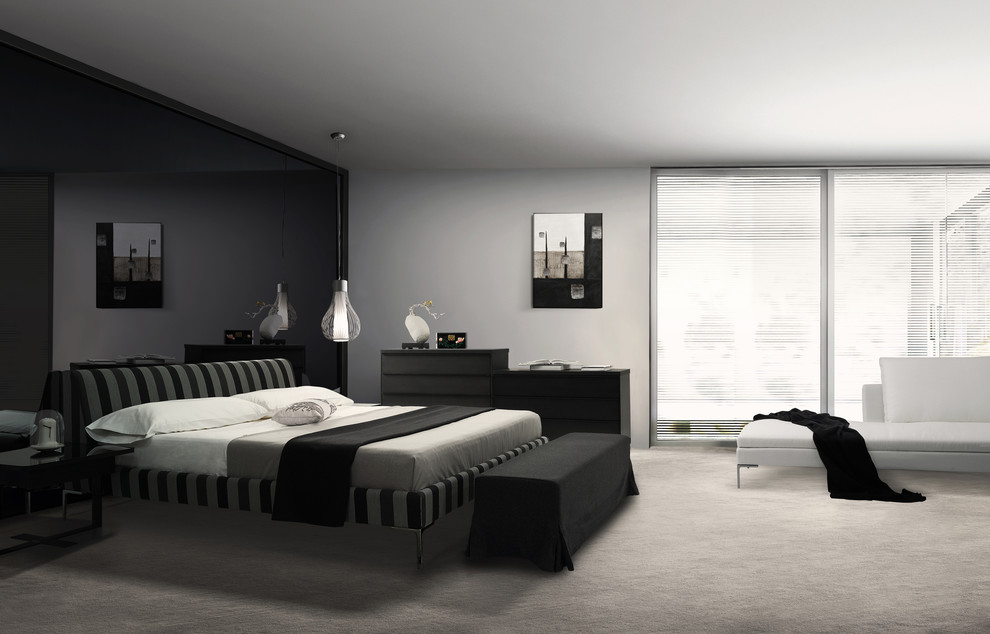 Charcoal Grey Modern Bedroom Modern Bedroom New York By Wolfhome