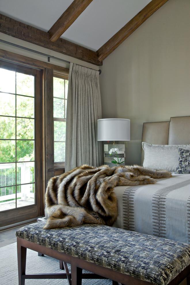 Bedroom - rustic bedroom idea in Other