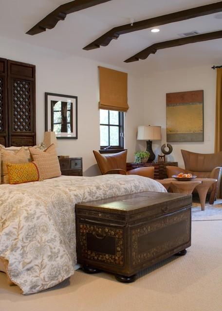 Charmean Neithart Interiors, LLC. mediterranean-bedroom