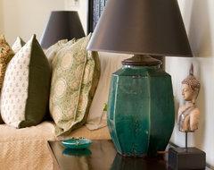 Charmean Neithart Interiors, LLC. eclectic-bedroom