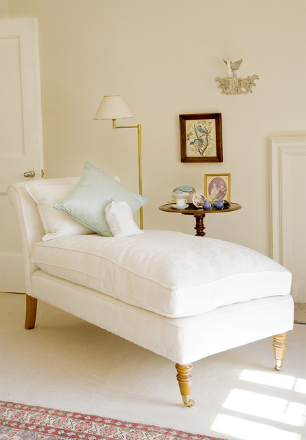 Charming city bedroom traditional bedroom london for Adrienne chaise lounge