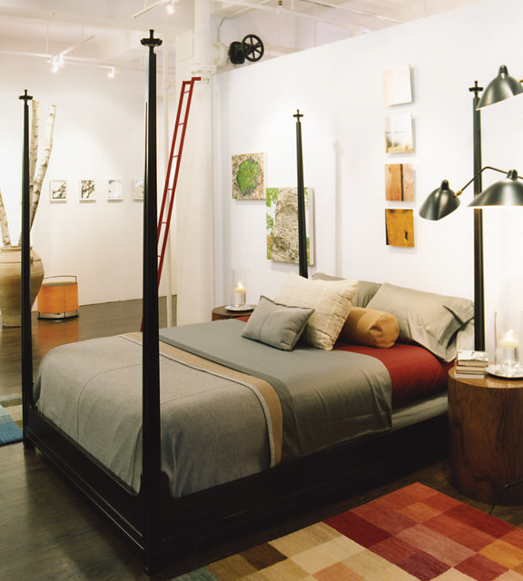 Chelsea Art Loft eclectic bedroom