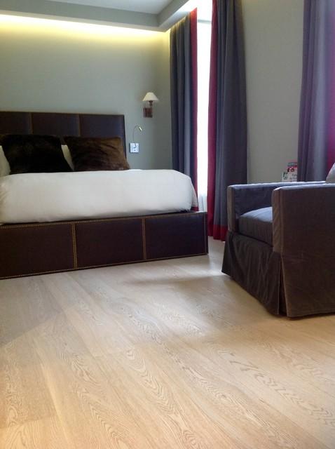 Chelsea Cream Hardwood Flooring Bedroom Contemporary Bedroom