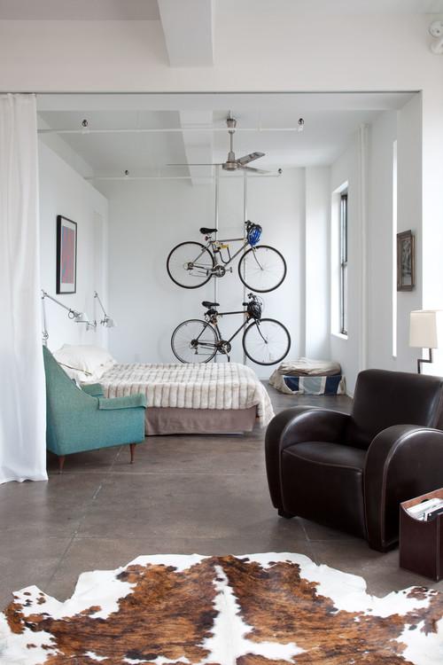 【Houzz】スポーツ用自転車を家の中に収納・保管する5つのアイデア 7番目の画像
