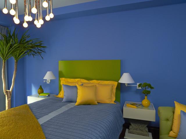 Chelsea Loft, New York City eclectic-bedroom