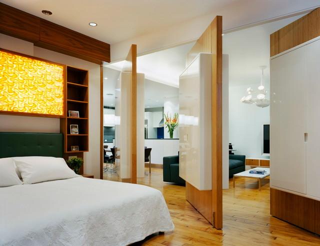 Chelsea Pivot Wall Loft - Contemporary - Bedroom - new ...