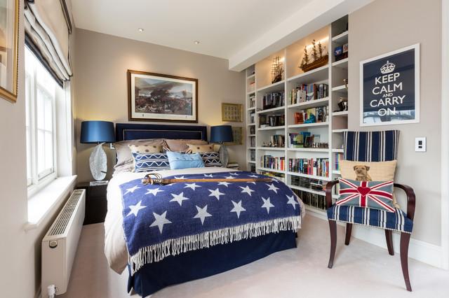 Inspiration for a modern bedroom remodel in Surrey Boy Bedroom  Houzz