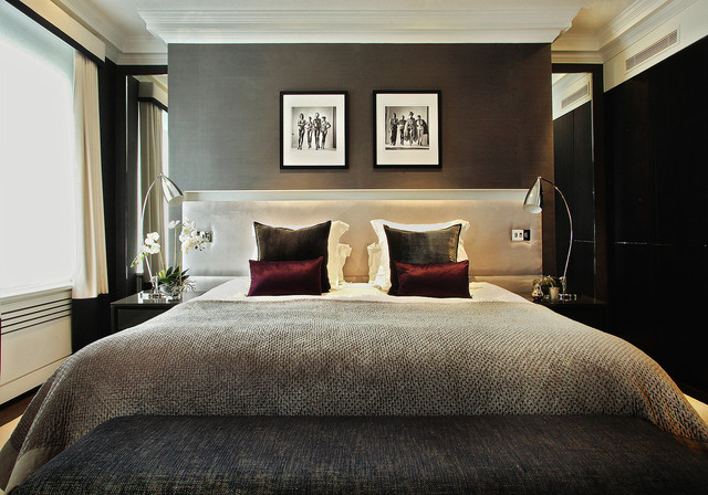 Chelsea townhouse contemporary bedroom london by for Hotel bedroom designs pictures