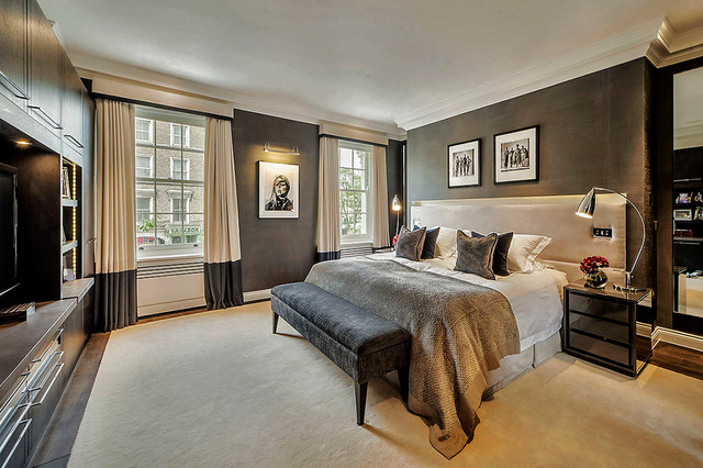 Townhouse chelsea contemporary bedroom london by for Townhouse decorating ideas