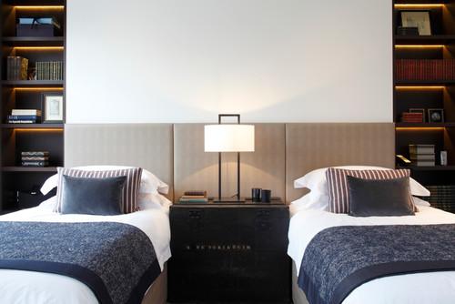 Contemporary Bedroom by London Interior Designers & Decorators Juliette Byrne