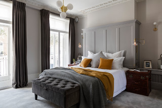 Grey And Mustard Bedroom Ideas Photos Houzz