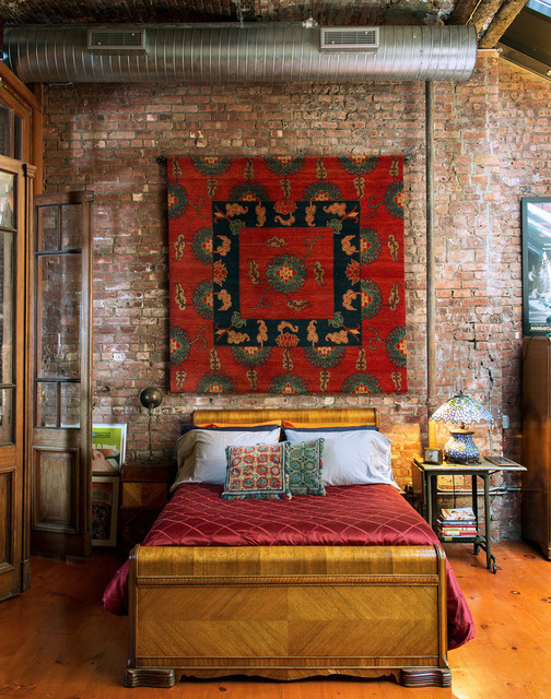 eclectic bedroom by ralo tibet carpet - Bohemian Bedroom Design
