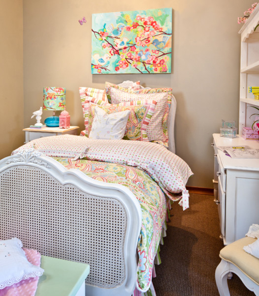 Cherry Blossom Birdies Big Girl Room - Traditional - Bedroom - San ...