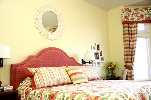 Cherry, Colorful Bedroom Makeover in Westminster, CO transitional-bedroom