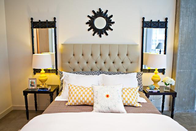 Chic Downtown Loft eclectic-bedroom