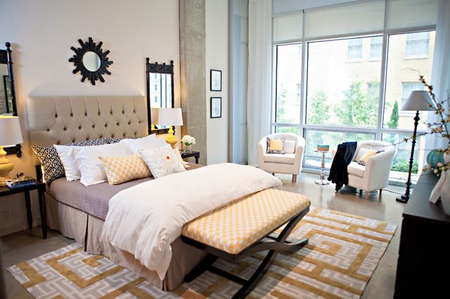 Chic Downtown Loft eclectic bedroom