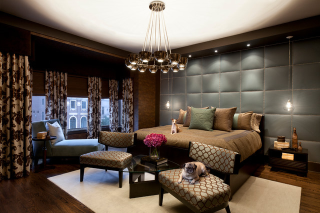 Chicago River North Townhouse Contemporary Bedroom Chicago By Anthony Michael Interior